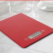Balanca digital p Cozinha Vidro Temperado Vermelha - XT209